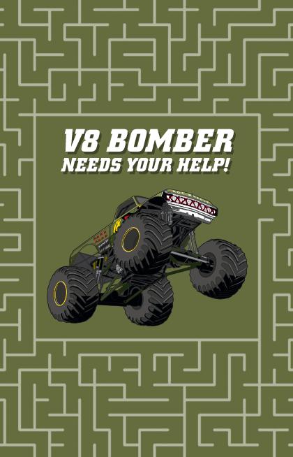 Puzzle Maze V8 Bomber